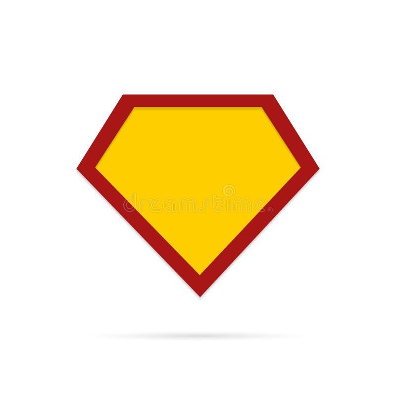 Знак супергероя иллюстрация штока