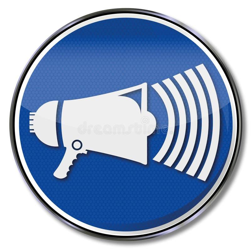 Знак с мегафоном бесплатная иллюстрация