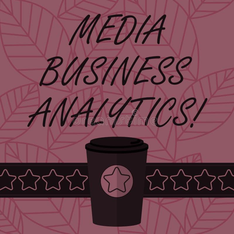 Знак текста показывая аналитика дела средств массовой информации Данные по схематического фото собирая и оценивая от социального  иллюстрация вектора