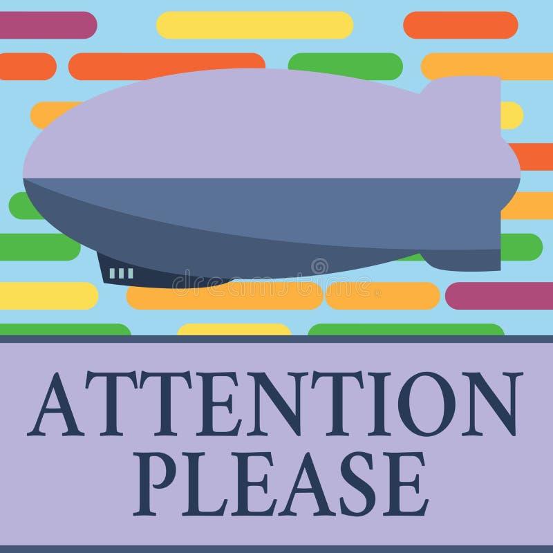 Знак текста показывая внимание пожалуйста Схематическое фото спрашивая SOP людей делая что-нибудь и концентрат с вами бесплатная иллюстрация