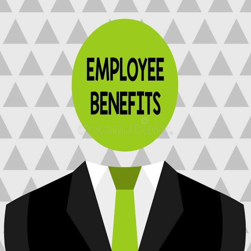 Знак текста показывая вознаграждения работникам Схематическое фото косвенное и компенсация noncash оплатили к работнику символиче иллюстрация штока