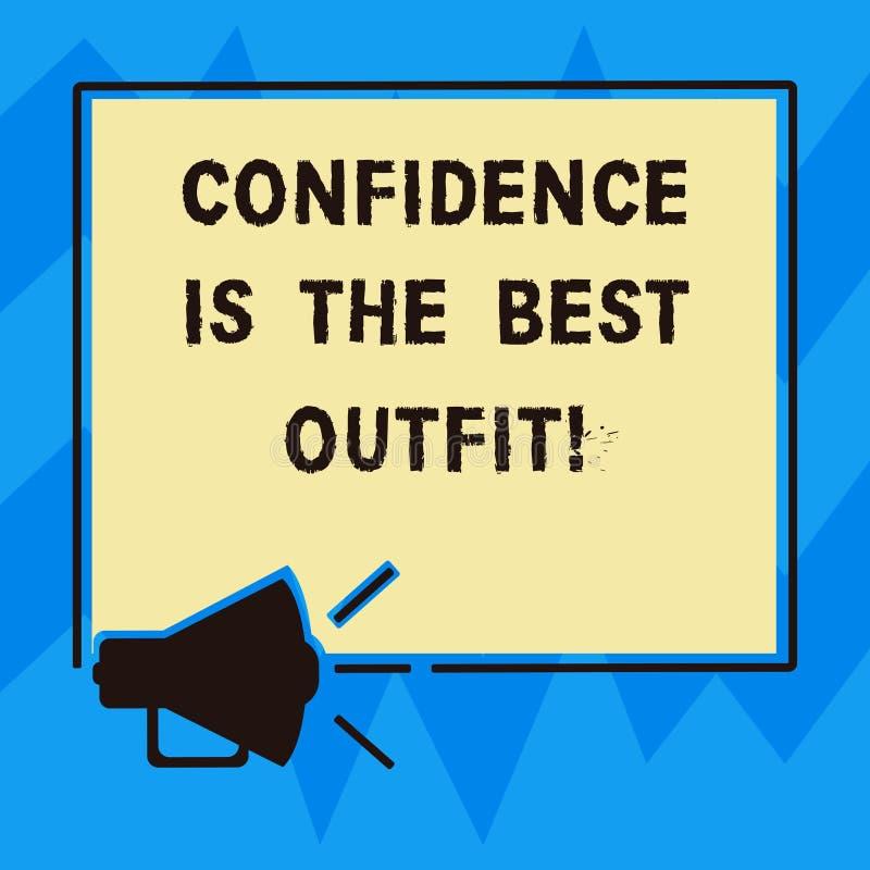 Знак текста показывая доверие самое лучшее обмундирование Схематическое самоуважение фото выглядит лучшим в вас чем мегафон одежд бесплатная иллюстрация