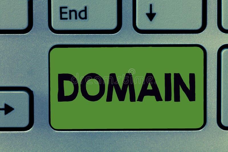 Знак текста показывая домен Подмножество схематического фото определенное интернета при адреса деля общий суффикс стоковое фото rf