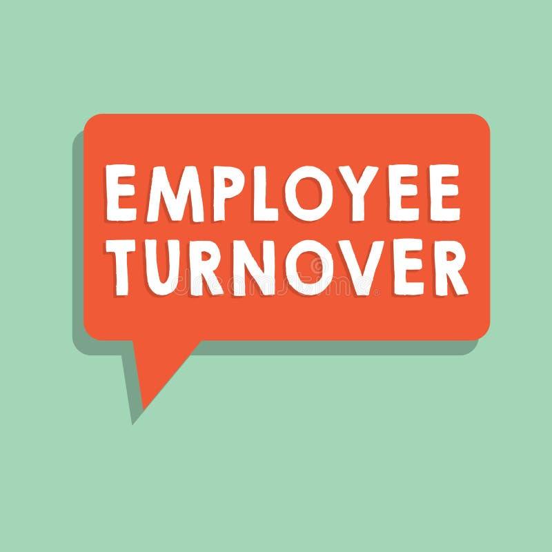 Знак текста показывая оборачиваемость работника Схематические номер фото или процент работников которые выходят организация иллюстрация вектора