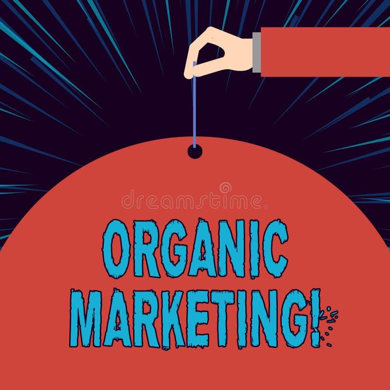 Знак текста показывая органический маркетинг Схематическое фото получая, что ваших клиентов прийти к вам естественно с течением в бесплатная иллюстрация