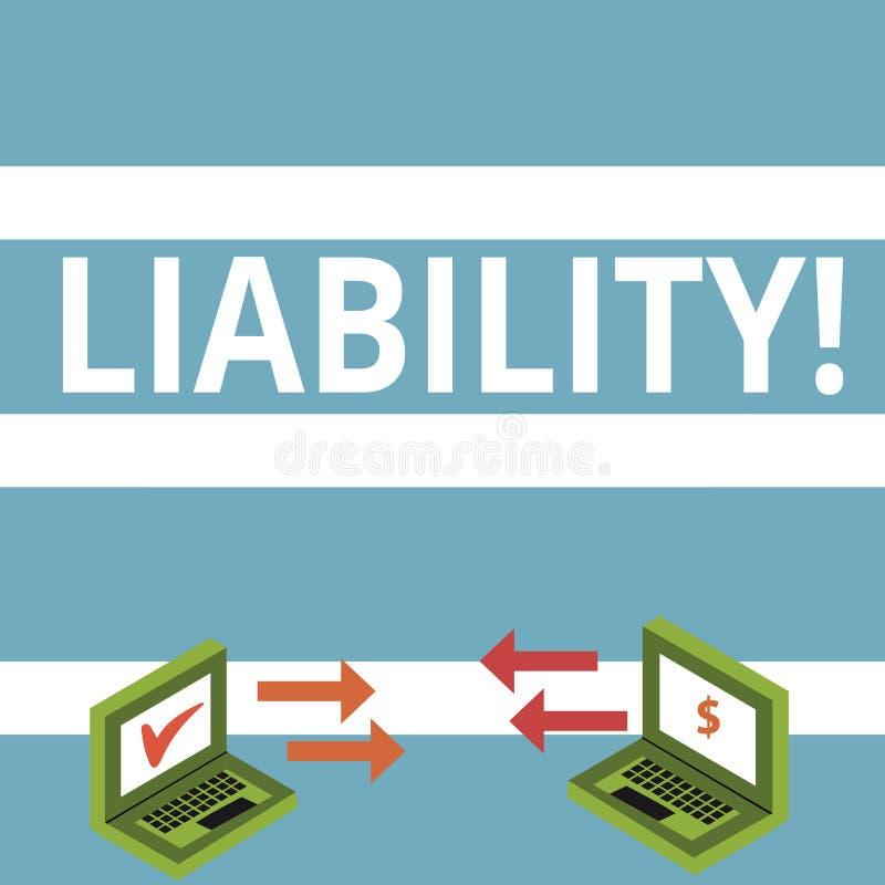Знак текста показывая пассив Схематическое государство фото быть законно ответственный за что-то обмен ответственности бесплатная иллюстрация
