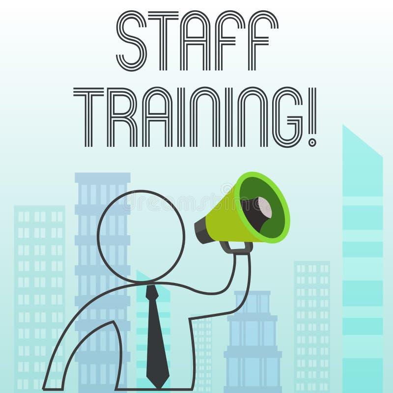 Знак текста показывая подготовку персонала Схематическая программа фото которая конструирована для увеличения технических навыков бесплатная иллюстрация