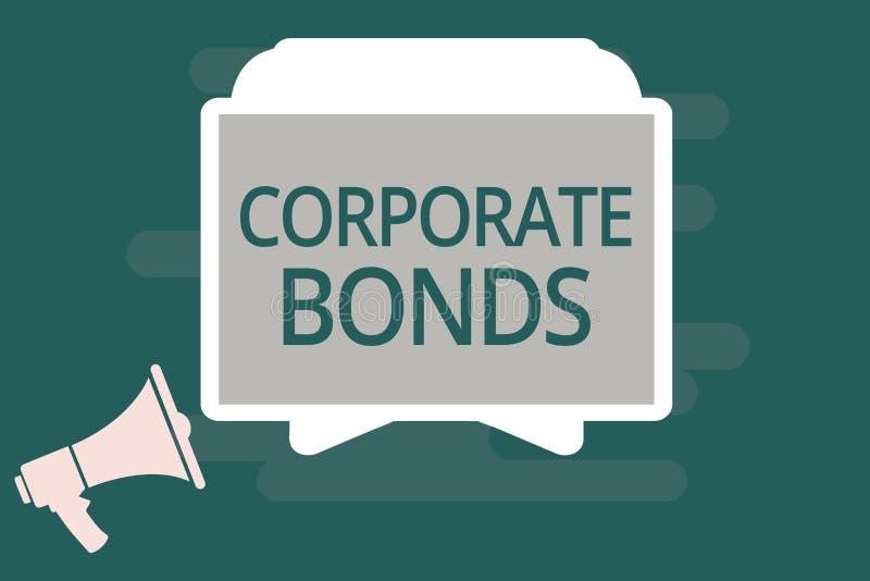 Знак текста показывая промышленные облигации Схематическая корпорация фото для того чтобы поднять финансирование для разнообразия бесплатная иллюстрация