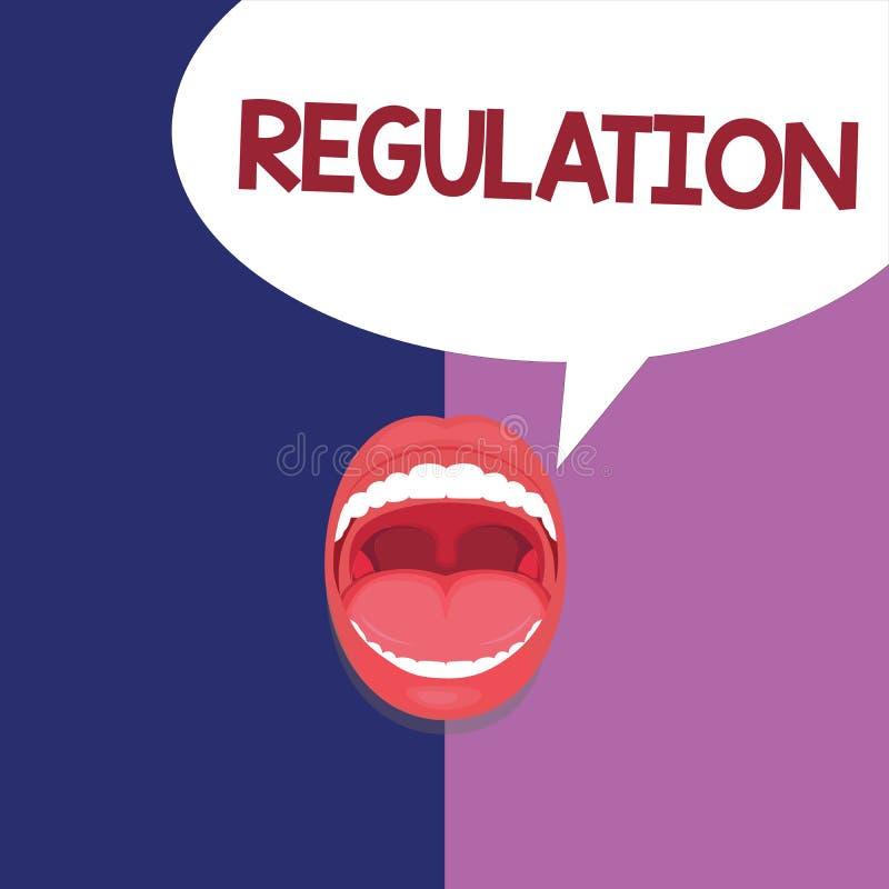 Знак текста показывая регулировку Схематические закон или директива правила фото сделанный и поддержанный властью бесплатная иллюстрация