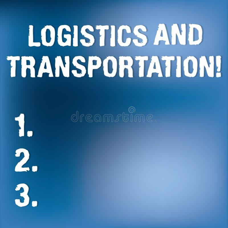 Знак текста показывая снабжение и транспорт Схематическое фото поставляя товары от поставщиков к клиентам расплывчатым бесплатная иллюстрация