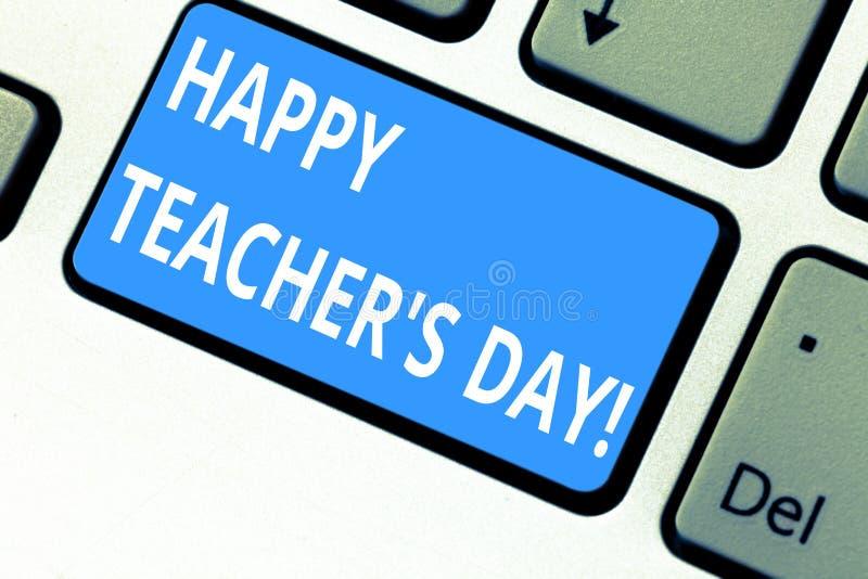 Знак текста показывая счастливого учителя s день Схематический президент Индия рождения вторых фото используемая для того чтобы о стоковое фото