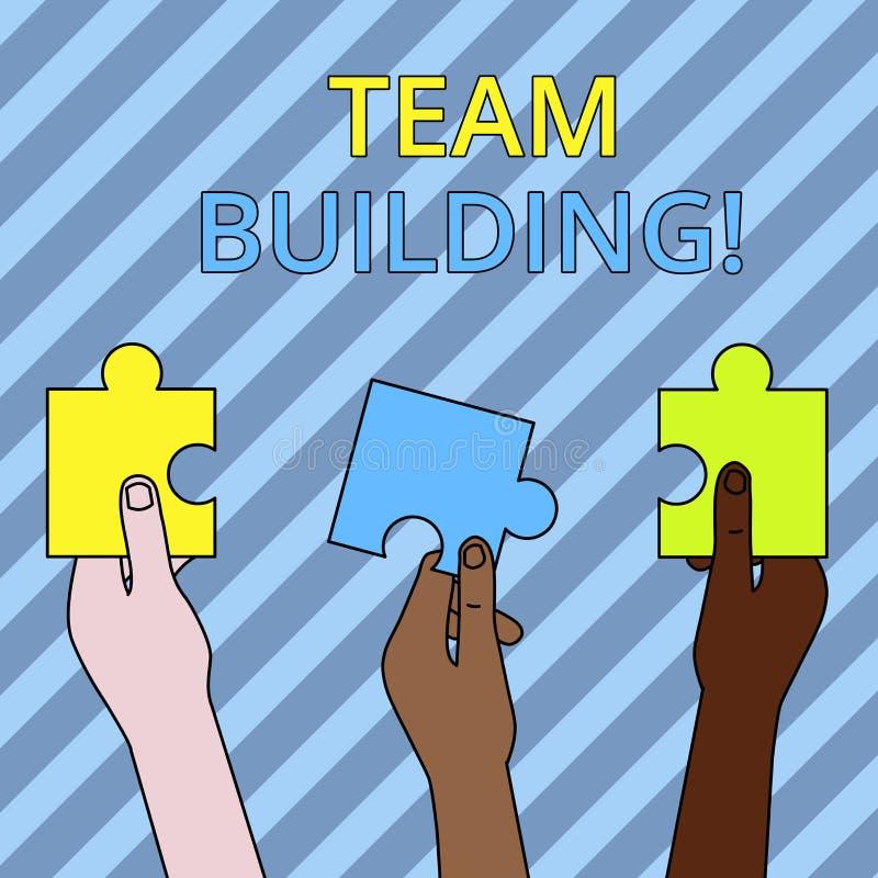 Знак текста показывая тимбилдинг Схематические деятельности при фото конструированные для увеличения мотивации и сотрудничества 3 иллюстрация штока