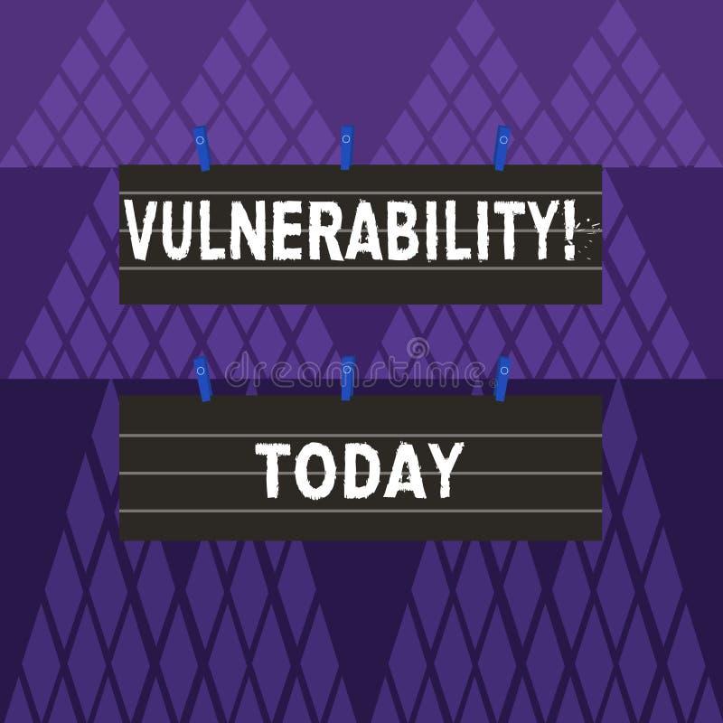 Знак текста показывая уязвимость Схематические системы подверженности данным по фото прослушивают цвет атакующего 2 эксплуатирова иллюстрация штока