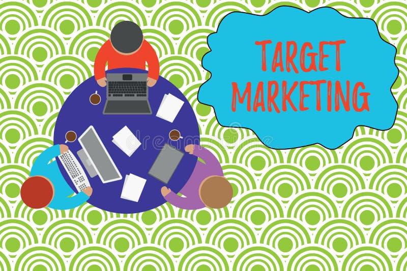 Знак текста показывая целевой маркетинг Схематической клиенты клиентов аудитории фото выбранные целью рекламируя работая круг бесплатная иллюстрация