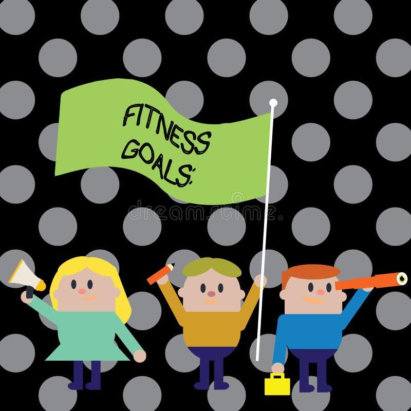 Знак текста показывая цели фитнеса Мышца строения схематического фото свободная тучная получая более сильный подготовлять иллюстрация штока