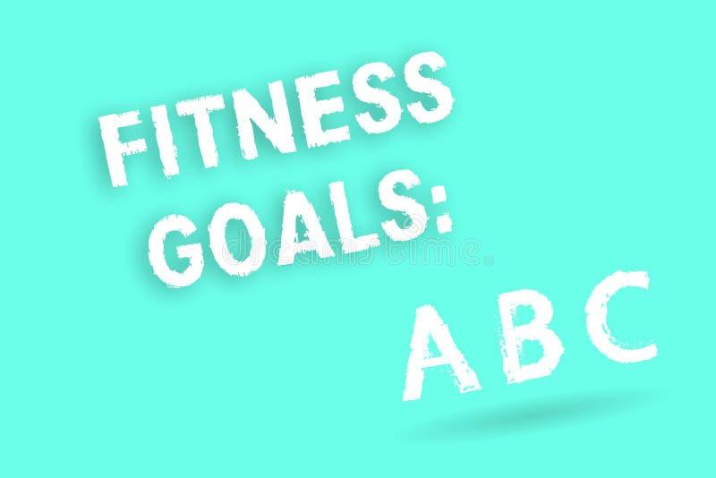 Знак текста показывая цели фитнеса Мышца строения схематического фото свободная тучная получая более сильный подготовлять бесплатная иллюстрация