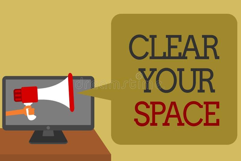 Знак текста показывая ясно ваш космос Район студии офиса схематического фото чистый делает его пустой освежить реорганизовывает с иллюстрация штока