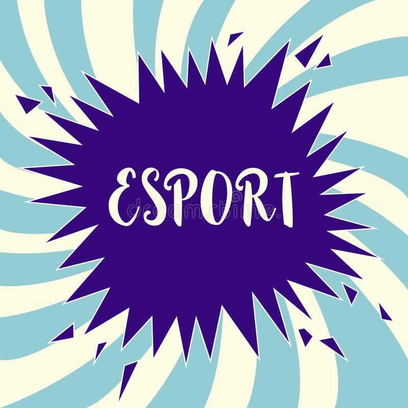 Знак текста показывая Esport Видеоигра схематического фото предназначенная для многих игроков сыграла конкурсно для зрителей и по бесплатная иллюстрация