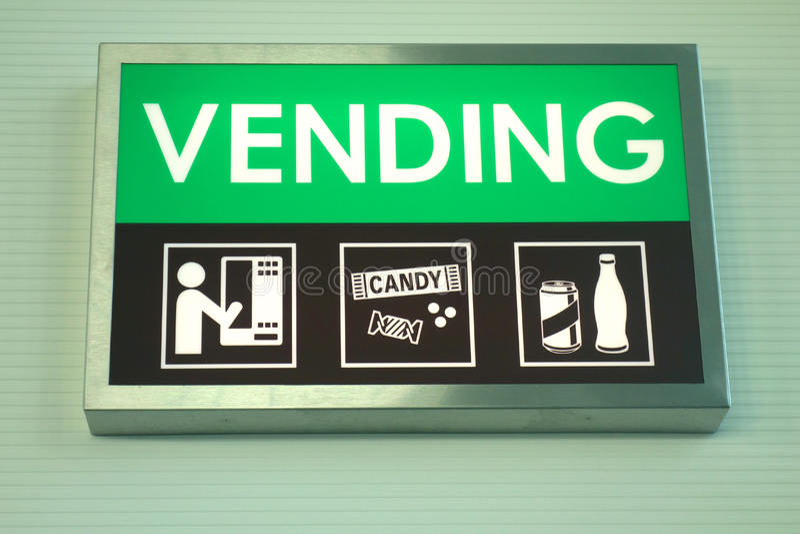 Знак торгового автомата стоковые изображения rf