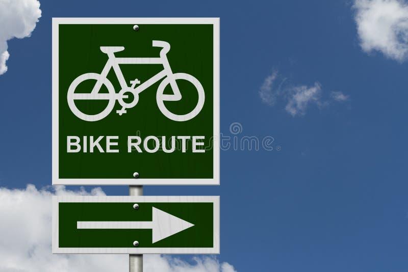 Знак трассы велосипеда иллюстрация штока