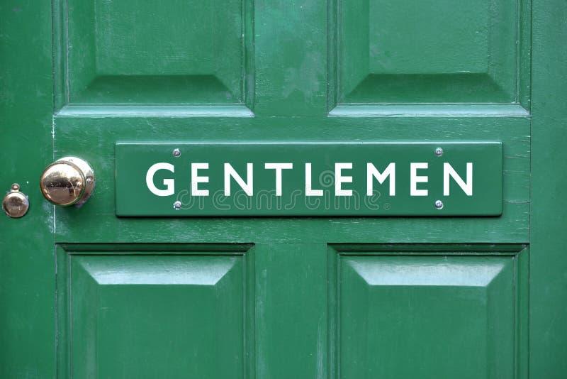 Знак туалета джентльмена стоковая фотография rf