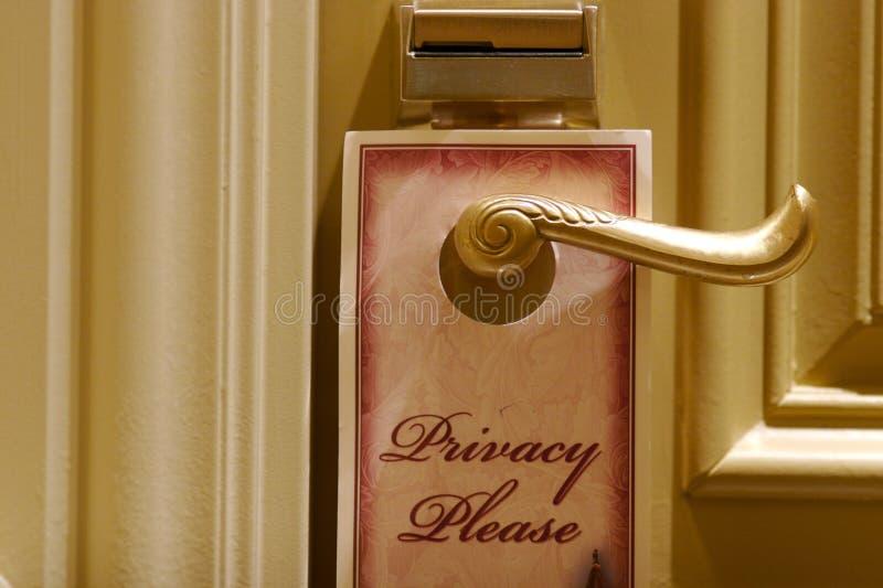 знак уединения гостиницы двери стоковое фото