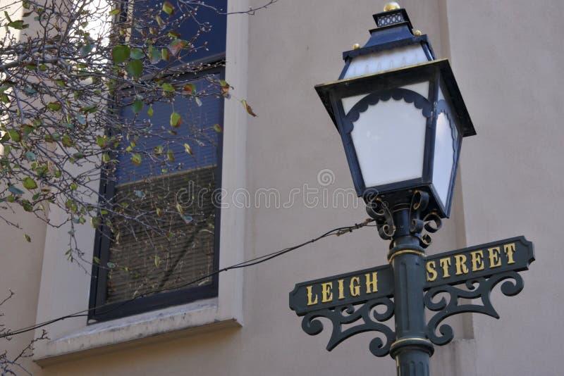 Знак улицы Аделаида Leigh южная Австралия стоковые изображения rf