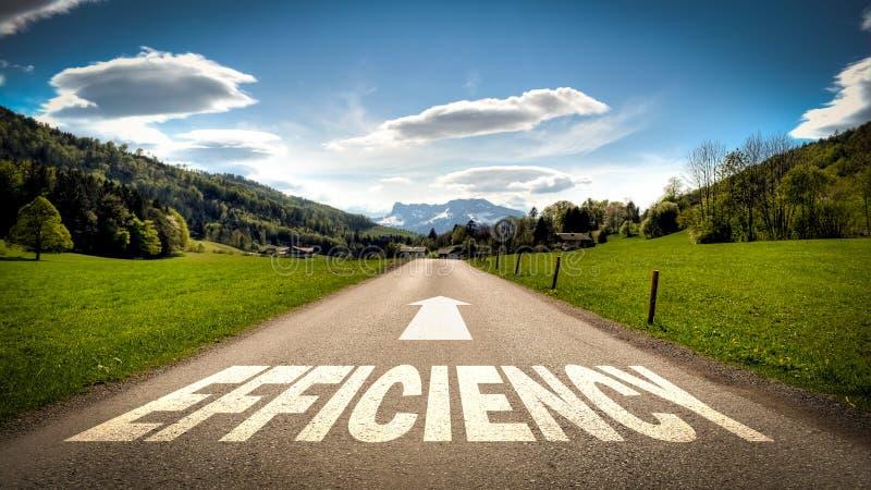Знак улицы к эффективности стоковые фотографии rf