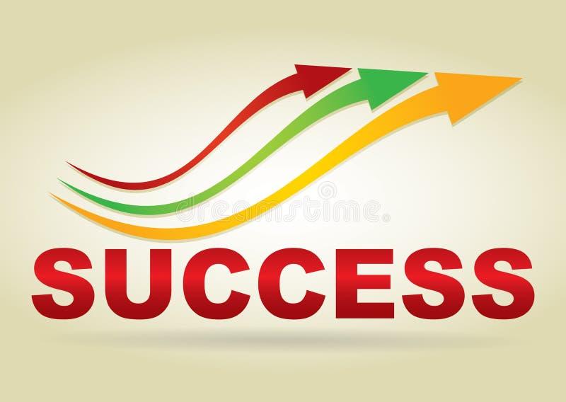 Знак успеха иллюстрация вектора