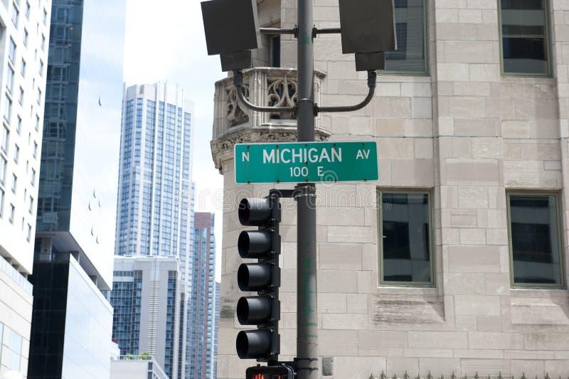 Знак улицы Мичигана Ave стоковое изображение rf