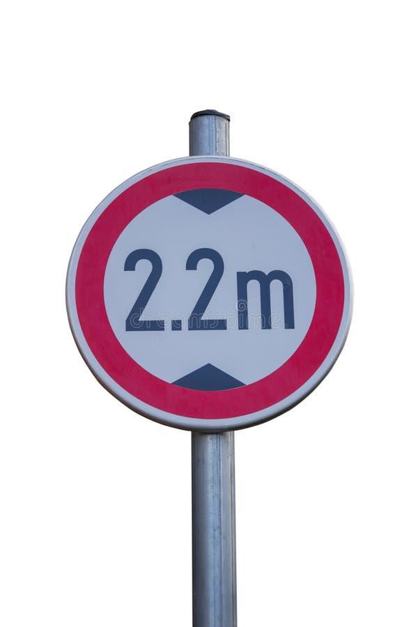 Знак уличного движения для низкого зазора стоковые изображения rf