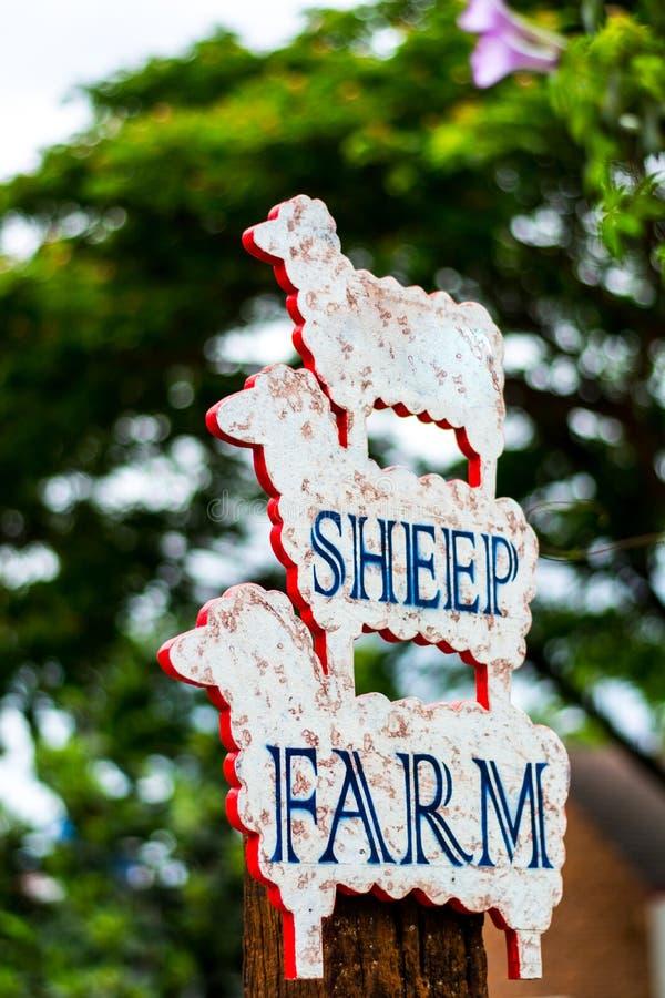 Знак фермы овец стоковое изображение rf