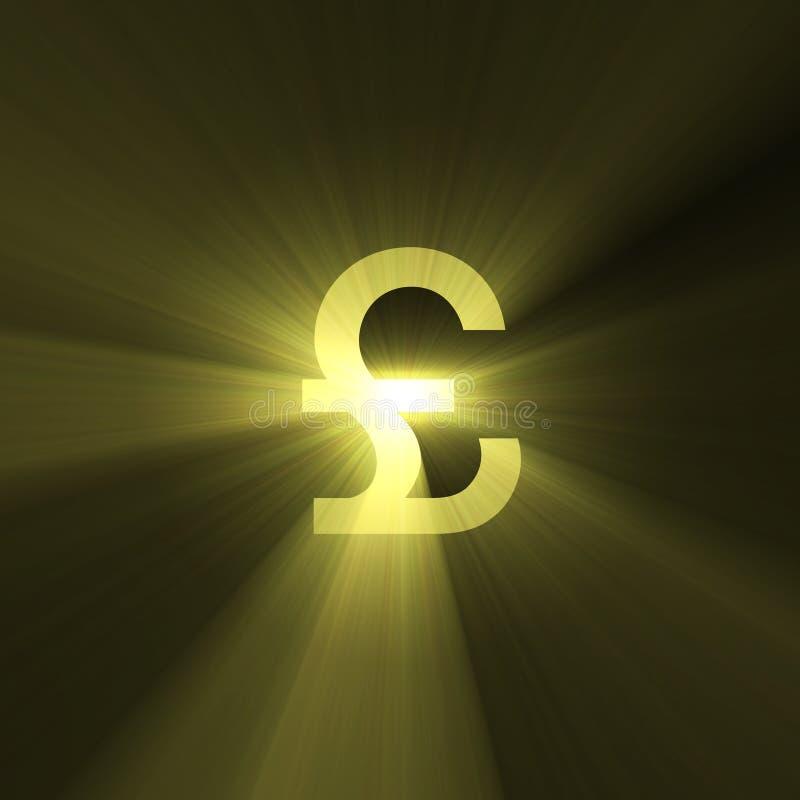 знак фунта света пирофакела валюты иллюстрация штока
