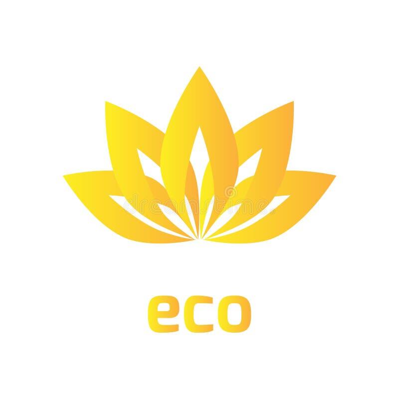 Знак цветка, логотип, лист перекрытия, предпосылка значка eco, ilustration вектора, Eps-10, элемент дизайна, геометрический симво бесплатная иллюстрация