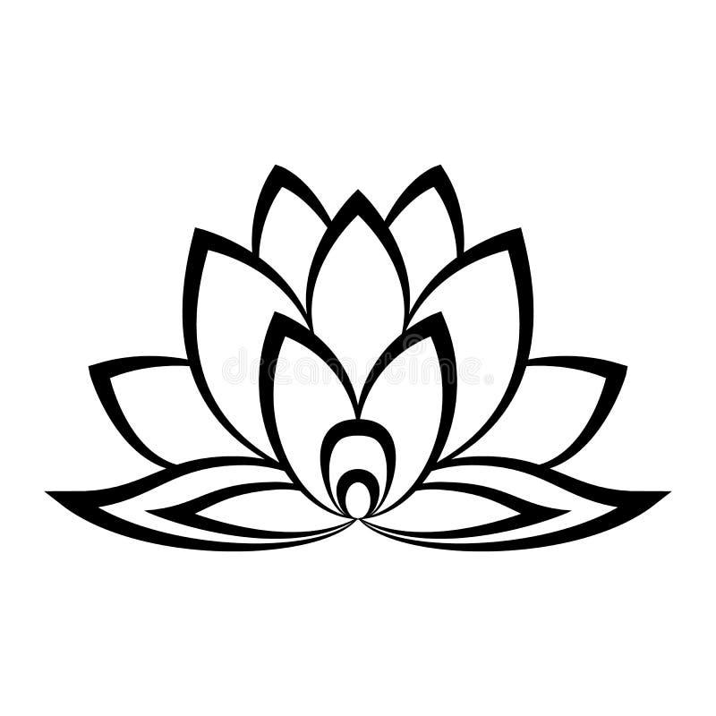 Знак цветка лотоса иллюстрация вектора