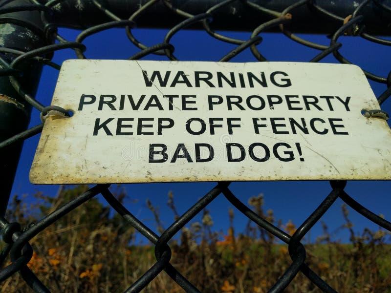 Знак частной собственности стоковые фотографии rf