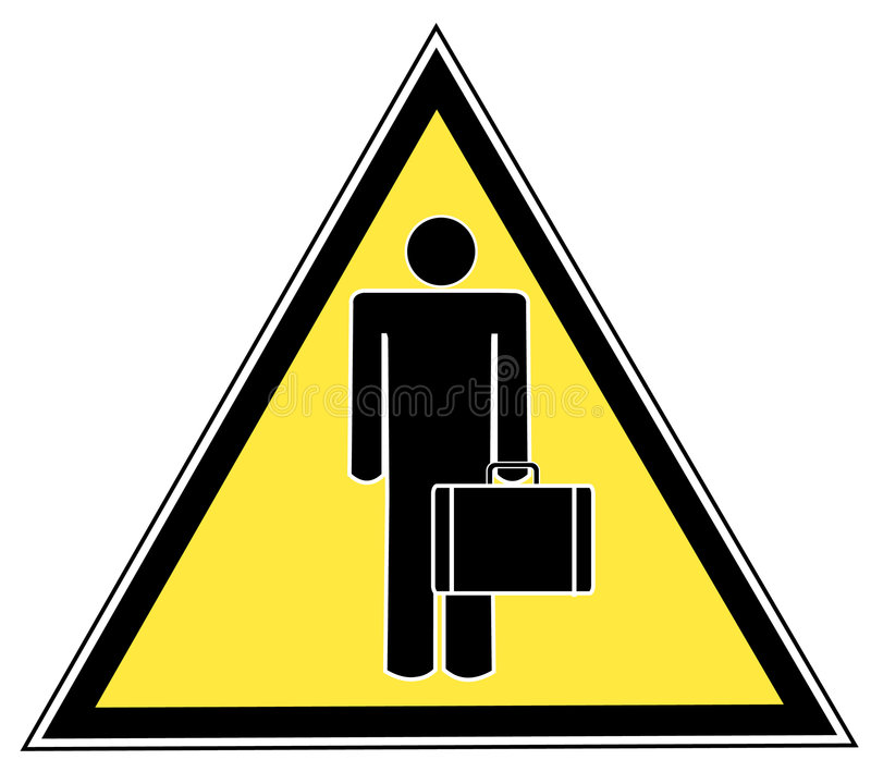 знак человека портфеля иллюстрация вектора