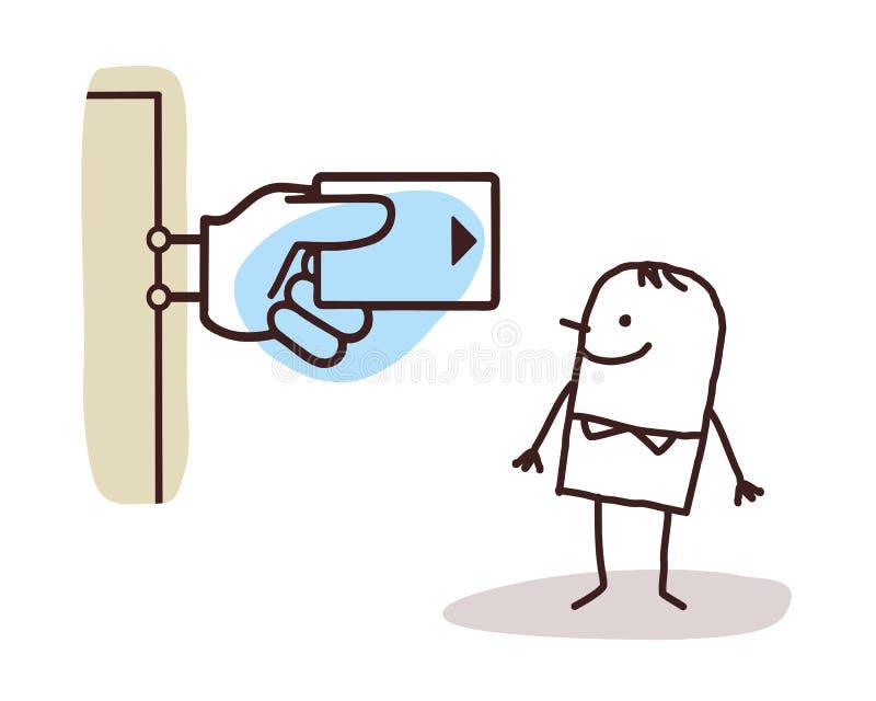 Знак человека и банка бесплатная иллюстрация