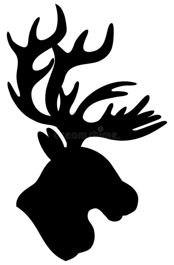 Знак шаржа вектора reindeer иллюстрация вектора