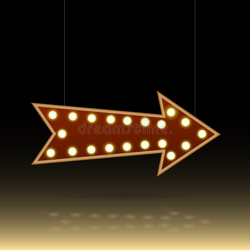 Знак шарика стрелки иллюстрация вектора