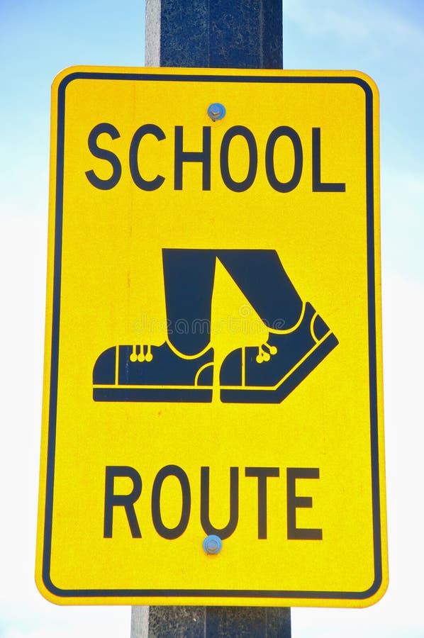 знак школы трассы стоковое фото rf