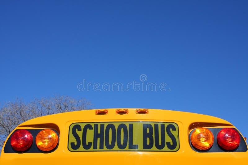 Знак школьного автобуса стоковое фото rf
