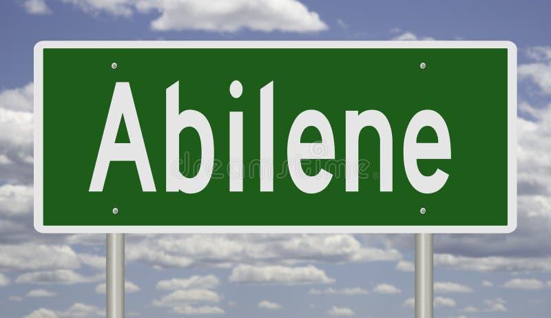 Знак шоссе для Абилина Техаса стоковое изображение rf