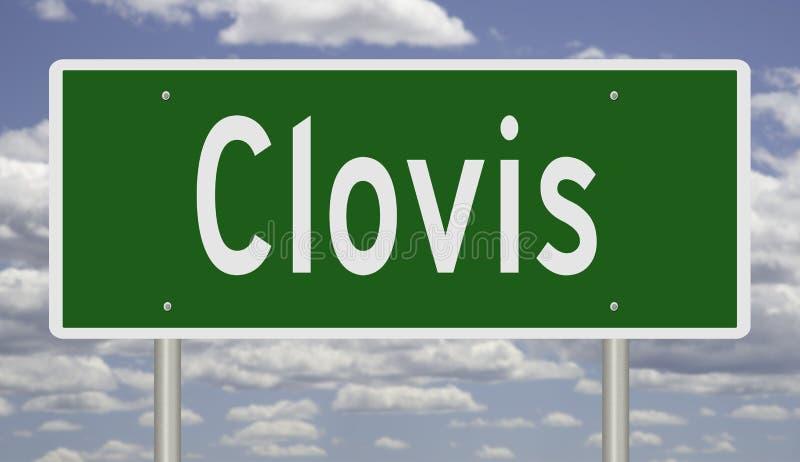 Знак шоссе для Clovis Неш-Мексико стоковые фото