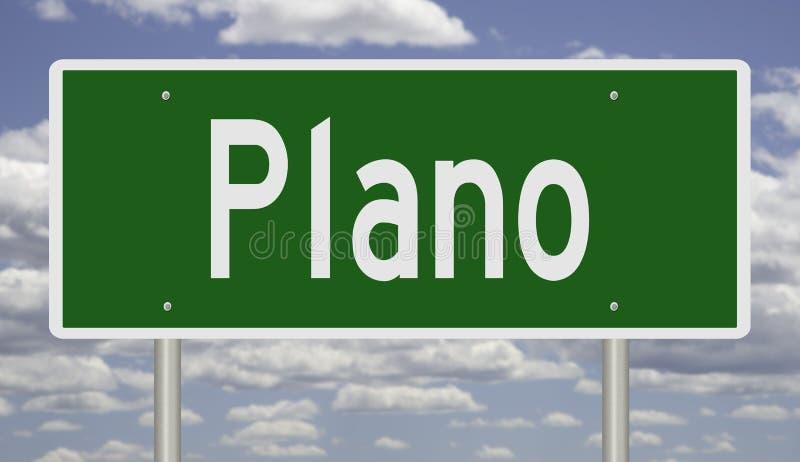 Знак шоссе для Plano Техаса стоковое изображение rf