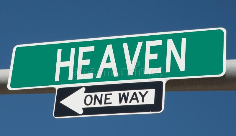Знак шоссе для рая иллюстрация вектора