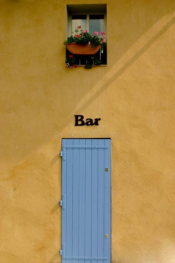 знак штанги французский сельский стоковая фотография