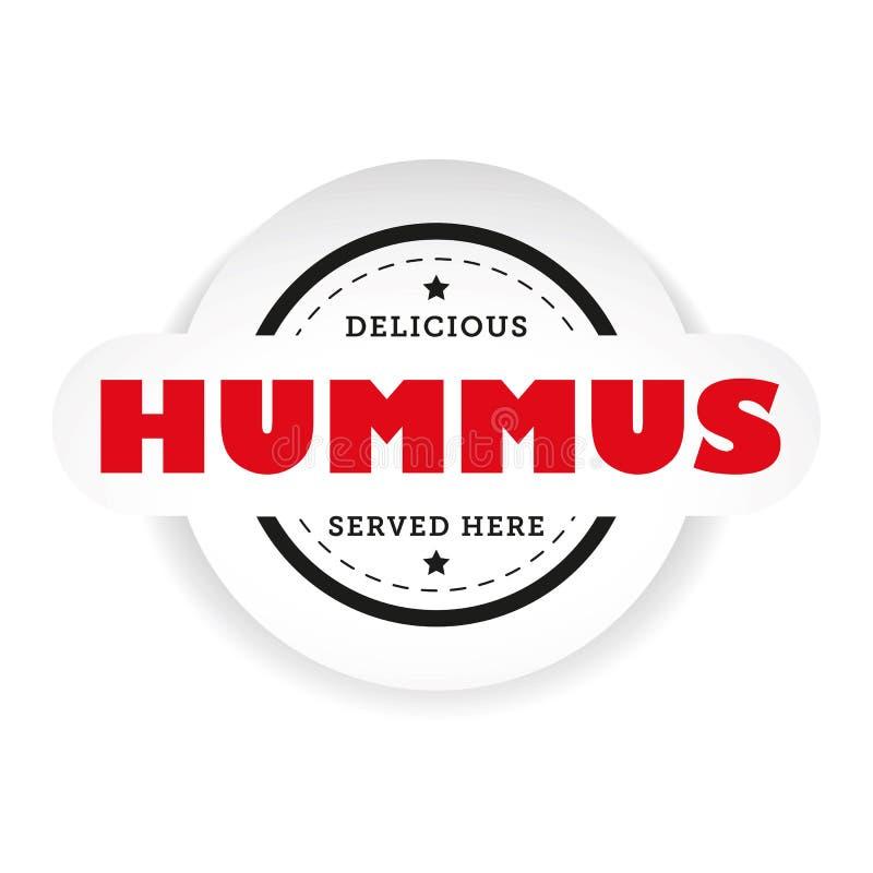 Знак штемпеля Hummus винтажный иллюстрация вектора