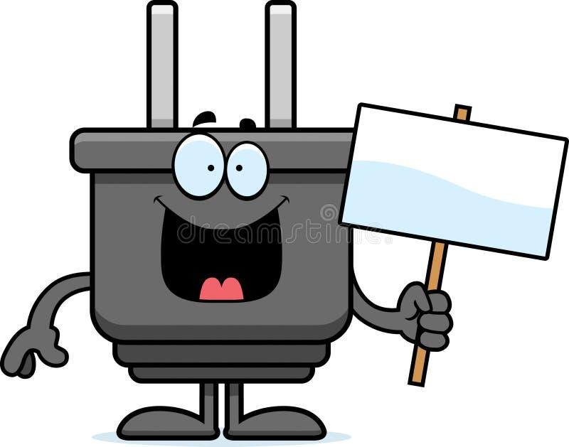 Знак штепсельной вилки шаржа бесплатная иллюстрация