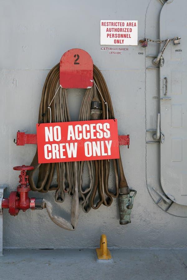знак экипажа стоковое фото